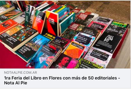 1a Feria del Libro de Flores_Nota al Pie